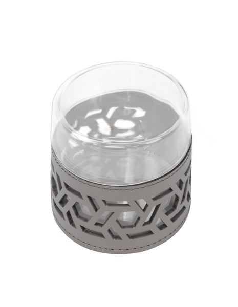 Fiordaliso Glass Case - Small Light Grey