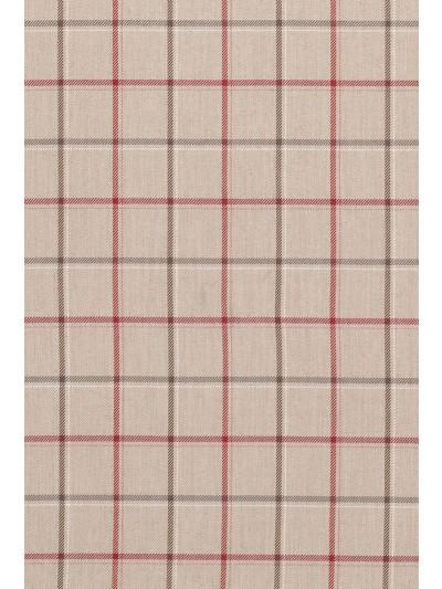 Braemar Branklyn Linen/Cranberry Fabric - NCF4112-03