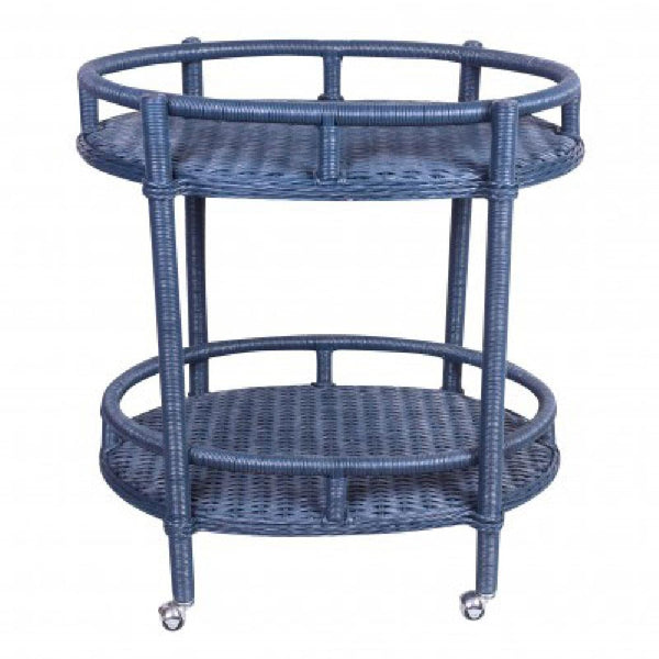 Oval Bar Cart - Navy