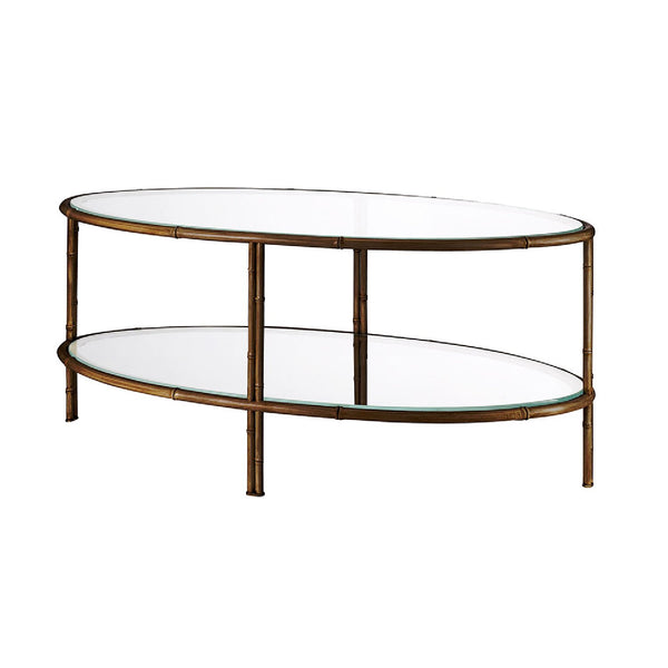 Pagoda oval coffee table
