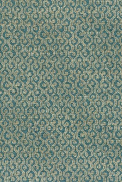 Cathay Weaves Ren Teal/Beige Fabric - NCF4163-01