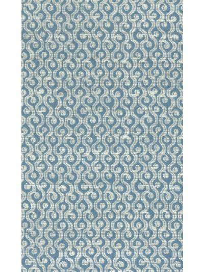 Cathay Weaves Ren Blue/Ivory Fabric - NCF4163-07