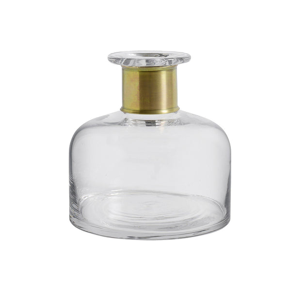 Medium Ring Deco Bottle - Clear