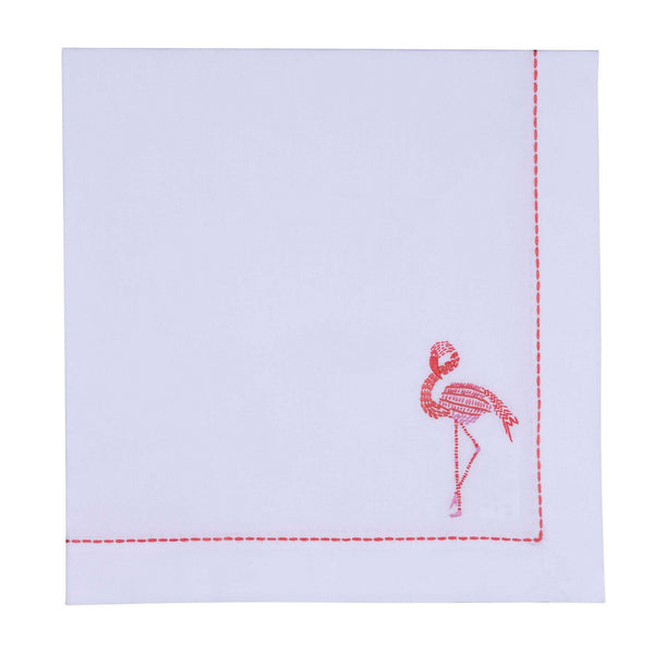 Safari Napkin- Flamingo