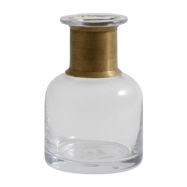 Small Ring Deco Bottle - Clear