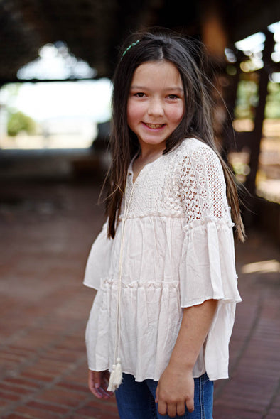 Boho Cream Top Tween