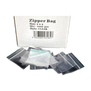 5 x Zipper Branded 2 x 2 Clear Bags
