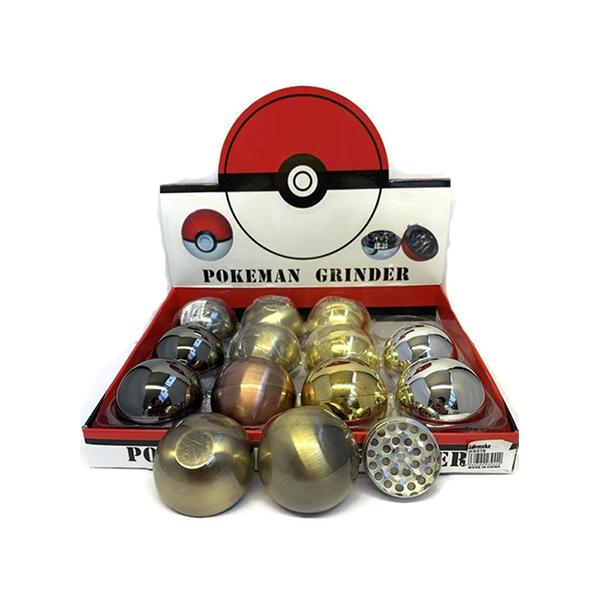 12 x 4Smoke 3 Parts Pokeman Metal Grinder - HX078