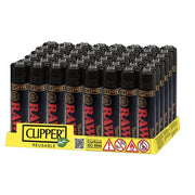 48 Clipper RAW Printed Refillable Lighters