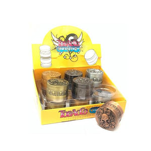 12 x 4 Parts Skull Design Metal Grinder - HX091-4