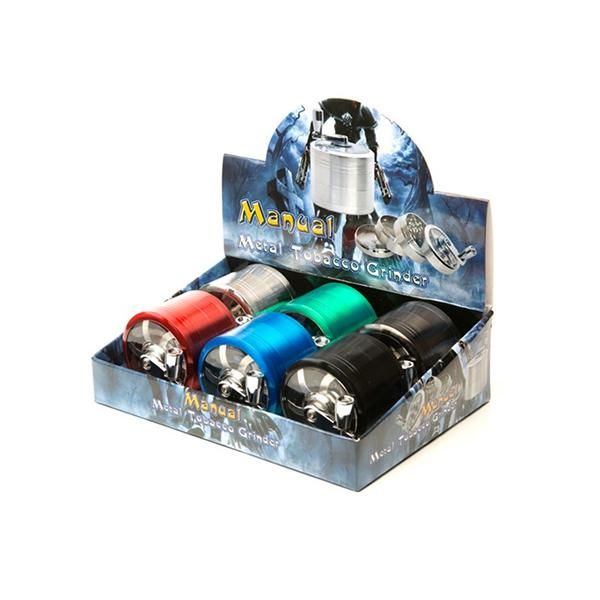 4 Parts Manual Metal Mixed Colour Grinder - HX060SY-4