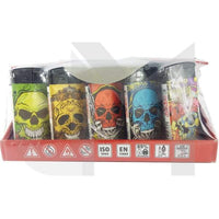 4Smoke Refillable Flat Printed Lighters 25 Pack - XHD8111