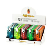25 x 4smoke Double Flame Electronic Lighters - 8248