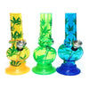 12 x Small Leaf Design Acrylic Bong - 9915SY