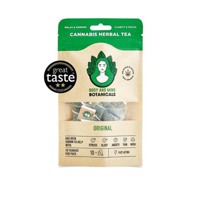 Body and Mind Botanicals 400mg CBD Cannabis Herbal Tea Bags - Original