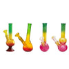 "8"" Rasta Colour Small Glass Bong - GB49"