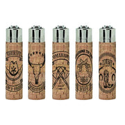 40 Clipper Large Pop Cover Natural Cork Lighters