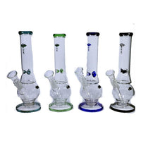 "6 x 12"" TRUE Small Ice Glass Bong - GWP-102"
