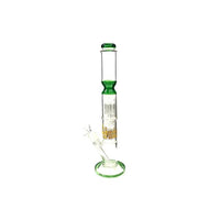 4Smoke 26cm Multi Colour Percolator Glass Bong- 1510-3001