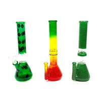 "6 x 12"" Mix colour & Mix Design Medium Percolator Glass Bong - G-1260MDA"