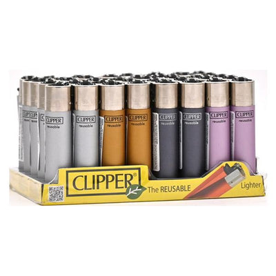 40 Clipper Refillable Classic Lighters Metallic IV - CP11RH