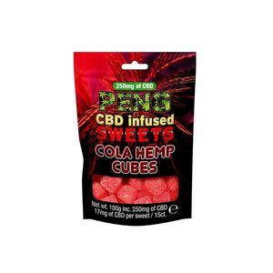 Peng 500mg CBD Infused Sweets - Cola Hemp Cubes