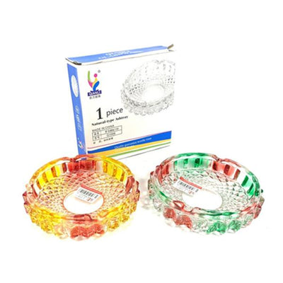 Qianli Natural Type Multi colour Glass Ash Tray - G1008
