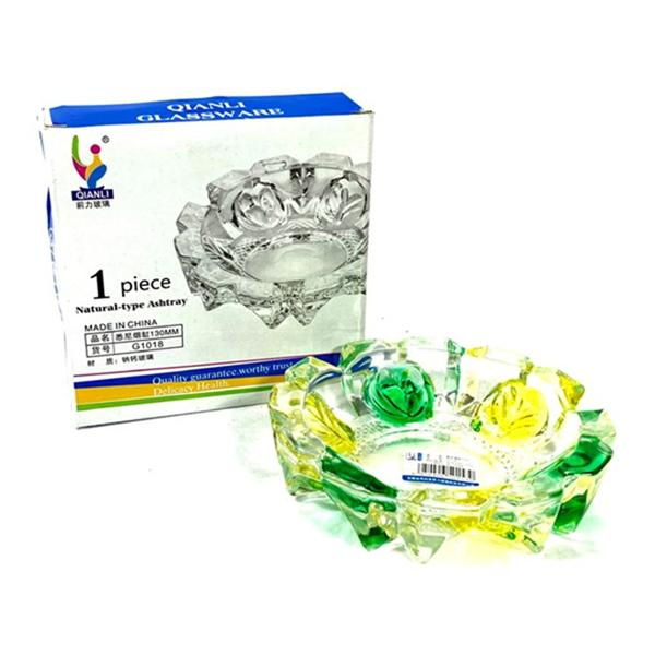 Qianli Natural Type Multi colour Glass Ash Tray - G1018