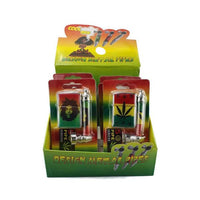 Metal Bob Marley Pipe Set with Lighter & Screens - 8CM - TZ1003W