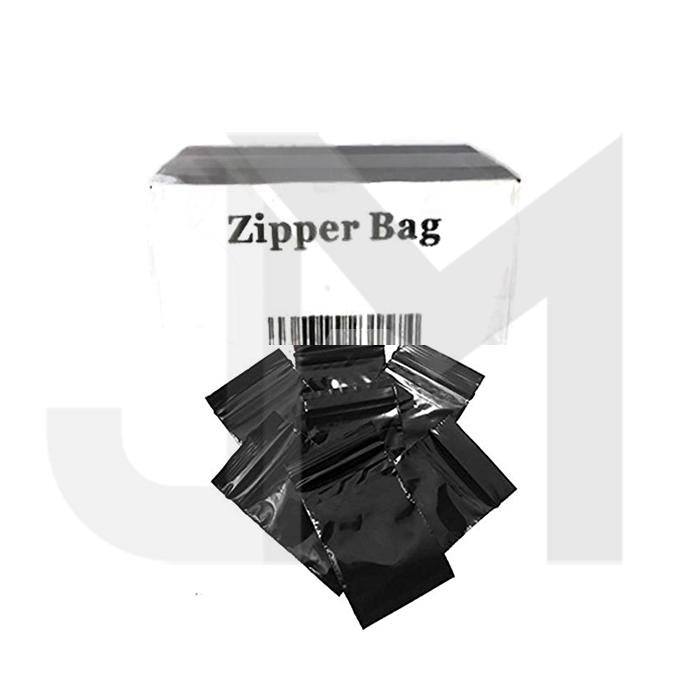5 x Zipper Branded  30mm x 30mm Black Bags