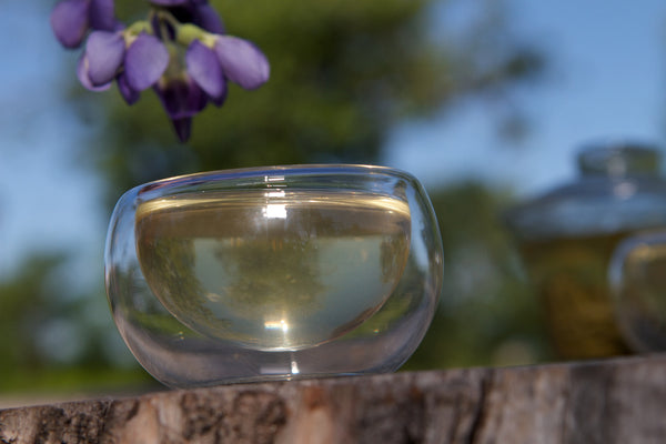 Double wall tea cup glass