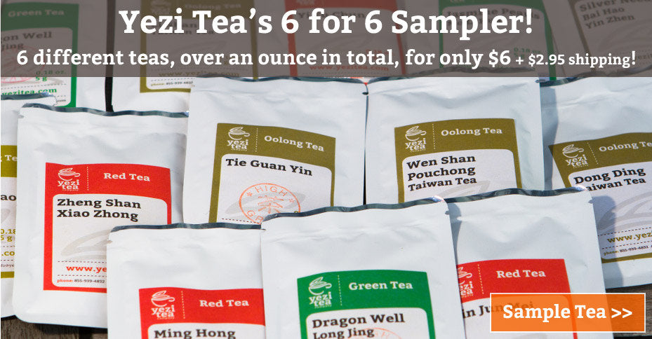 Yezi Tea Samplers - 6 teas for $6