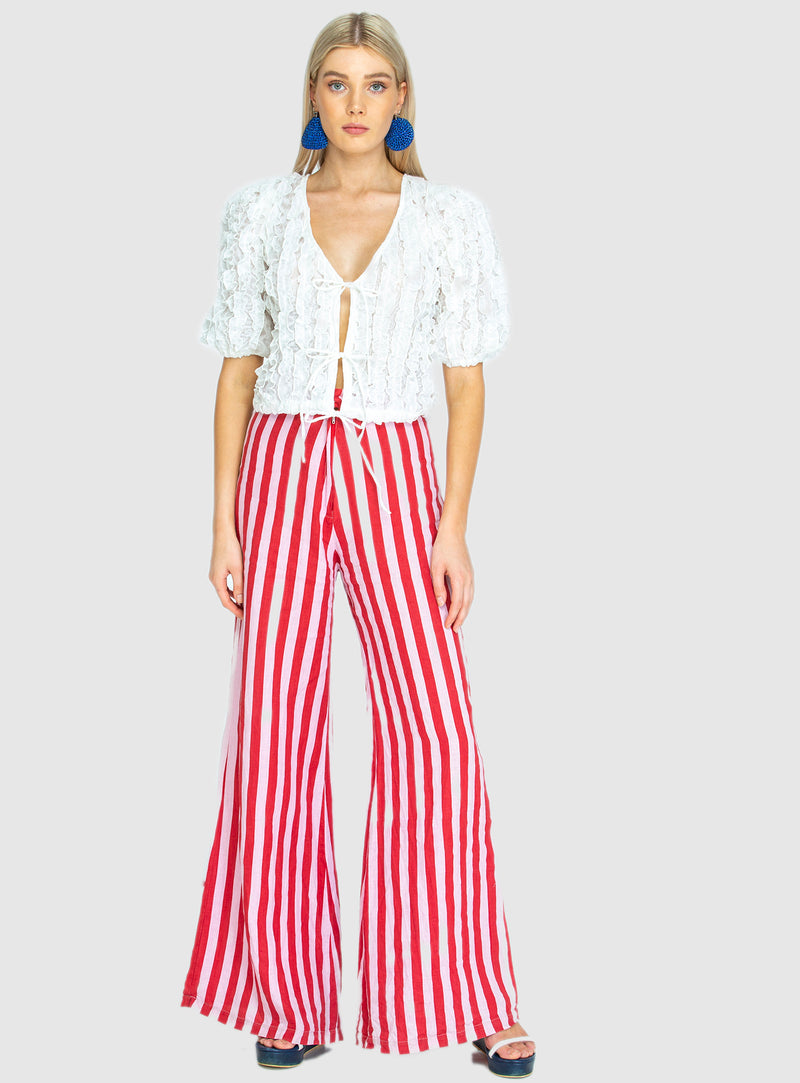 BOARDWALK LINEN PANT IN WHIPPY PINK