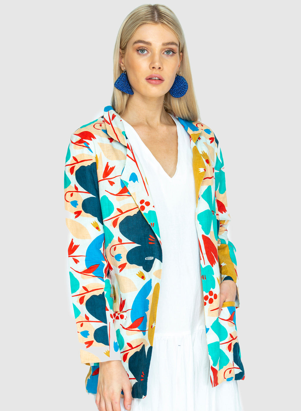THE LINEN BLAZER -  Big Blume