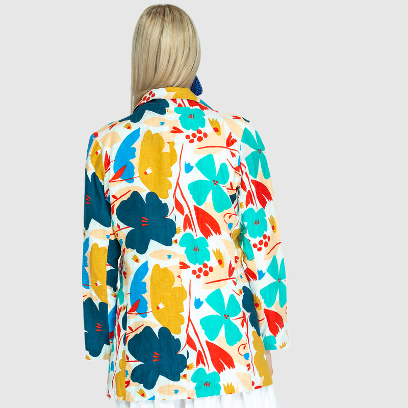 THE LINEN BLAZER BIG BLUME