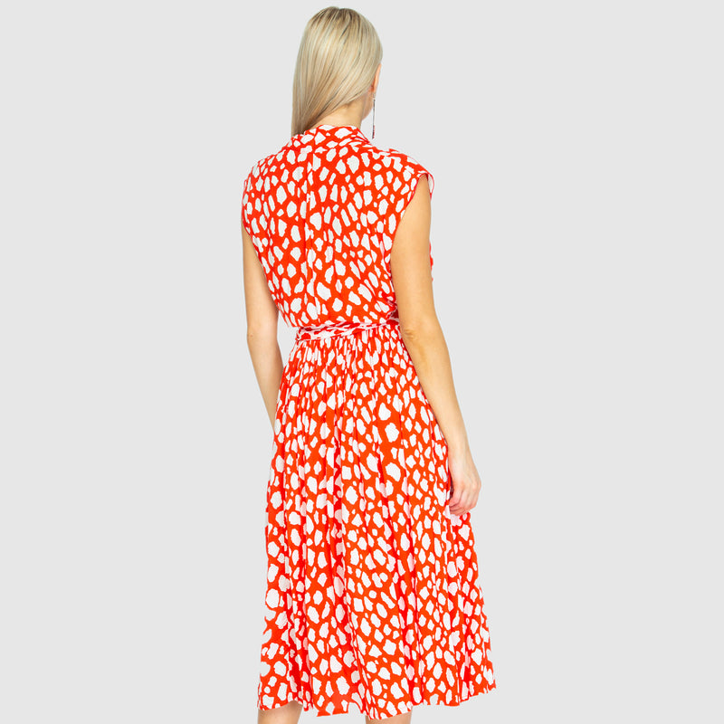 THE POINT DRESS - Giraffe red/white