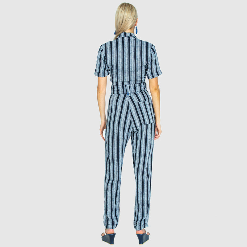 THE SLIDE JUMPSUIT WOVEN MIDNIGHT - PRE-ORDER