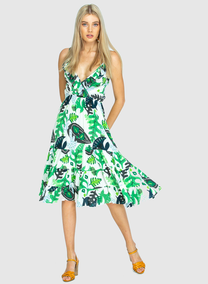 THE GEORGIA ORIGINAL BEACH DRESS - Cactus Green