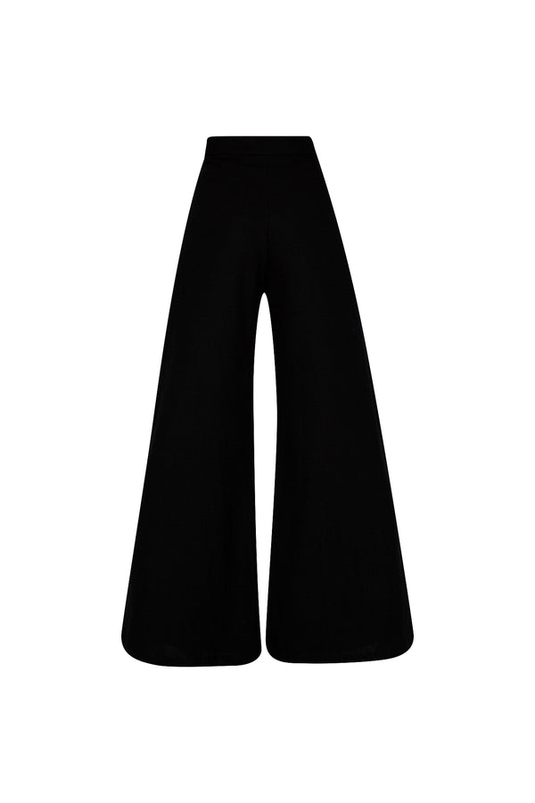 THE BOARDWALK WIDE LEG PANTS BLACK