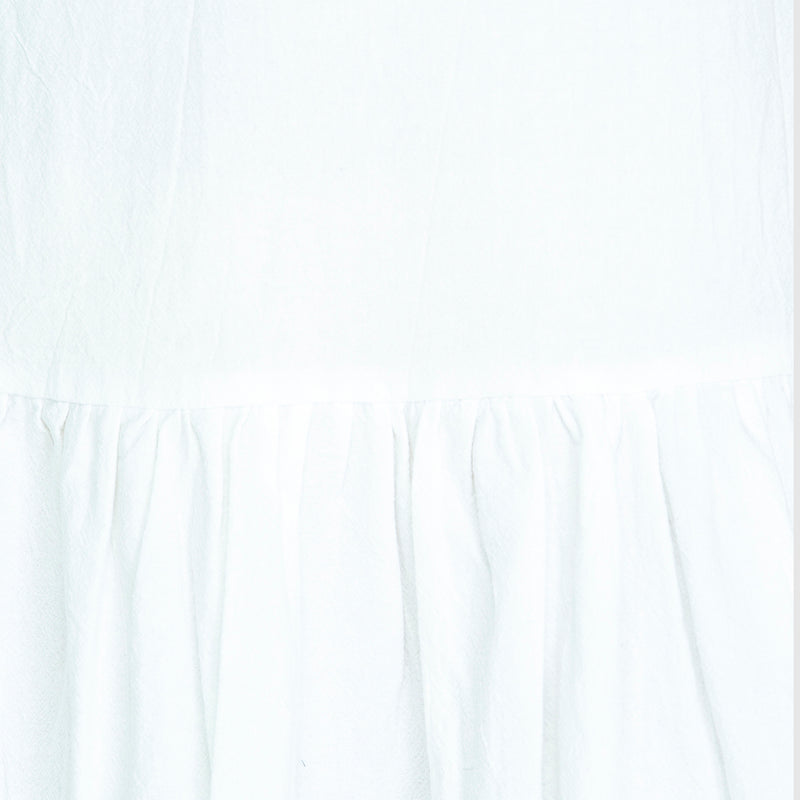 LIZZIE DROP WAIST DRESS - White