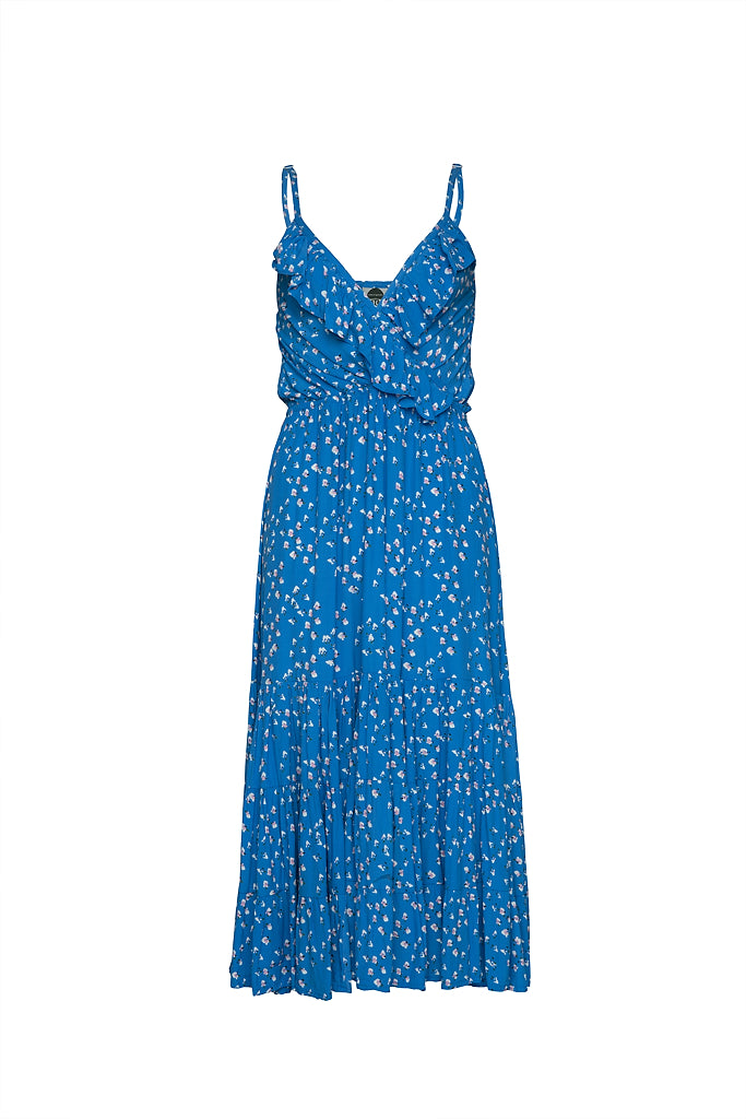 THE GEORGIA ORIGINAL BEACH DRESS - Freckles Blue
