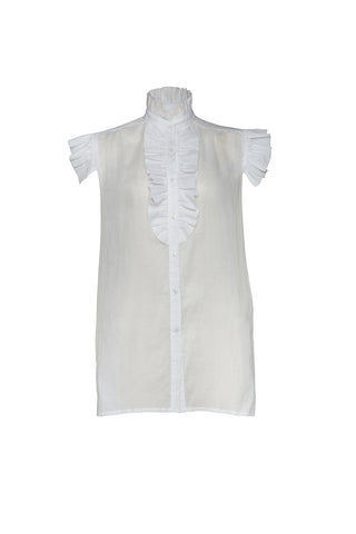 BUOY COTTON SHIRT - Ghost White