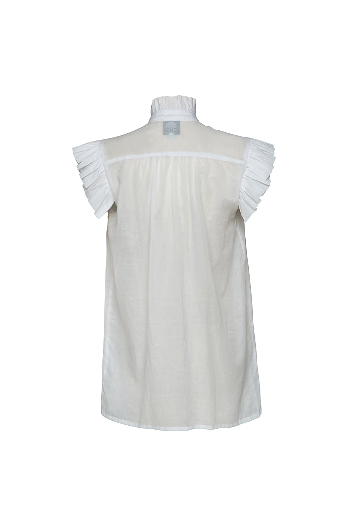 The Buoy Cotton Shirt in Ghost White PRE-ORDER