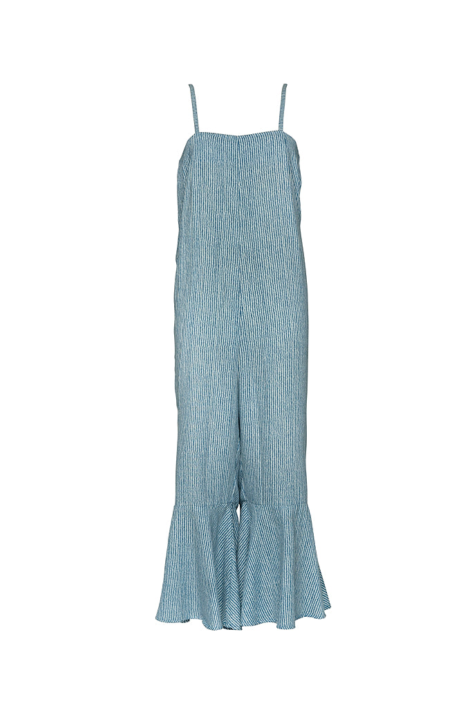 THE APARTMENT KNITTED JUMPSUIT SPACED DYE BLUE