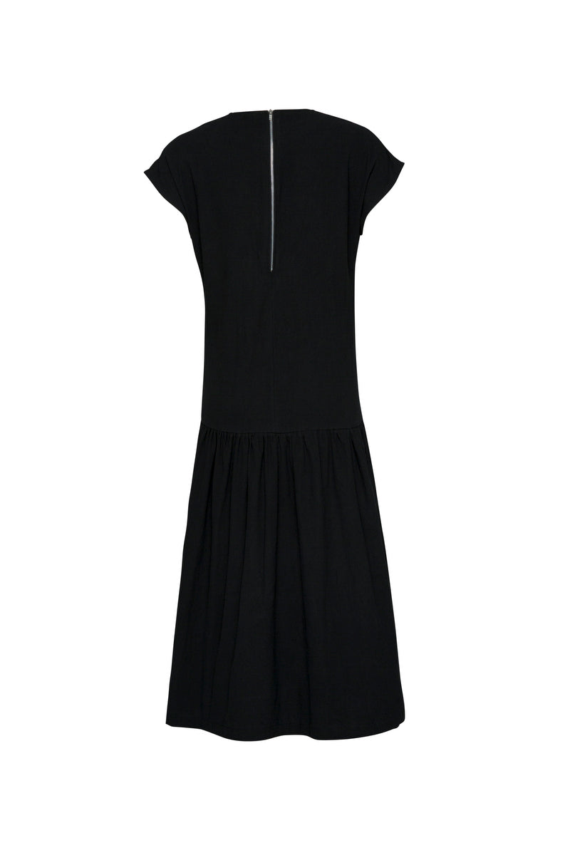 THE LIZZIE DROP WAIST DRESS BLACK