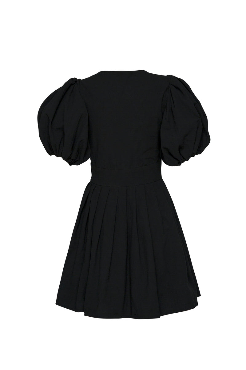 THE JAIME MINI BUTTON UP DRESS BLACK