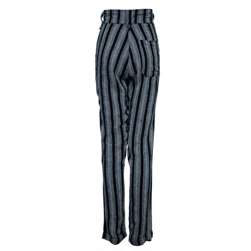 THE SLIDE PANTS IN WOVEN MIDNIGHT STRIPE