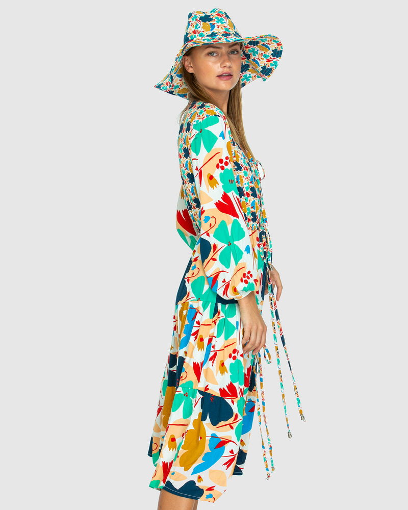 THE PARACHUTE DRESS IN BLUME MIX