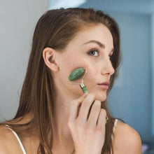 Load image into Gallery viewer, Natural Jade Facial Roller & Gua Sha Set