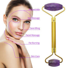 Load image into Gallery viewer, Natural Amethyst Face Massage Roller - El Sanar